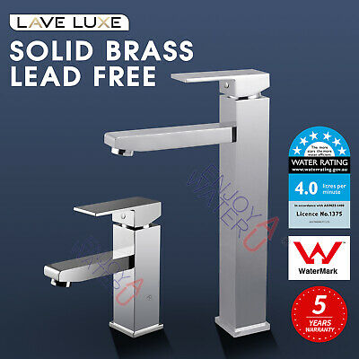WELS WATERMARK Square Tall High Rise Basin Sink Kitchen Vanity Mixer Tap Faucet