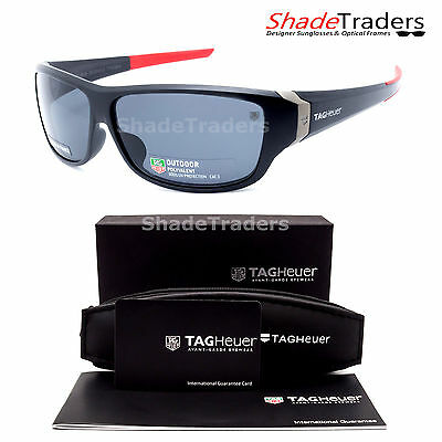 TAG Heuer RACER 2  SUNGLASSES BLACK/ RED OUTDOOR GREY RACING CYCLING 9225 101 65