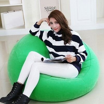 Hot Inflatable Sofa Lazy Air Seat Bean Bag Relaxing Reading Chair Single Person