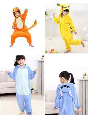 Pokemon Unisex Kids Pajamas Kigurumi Cosplay Costume Animal Onesie Sleepwear