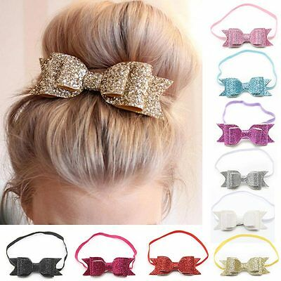 Baby Girl Toddler Sequined Bow Head Flower Hair Band Headband Hair Accessories