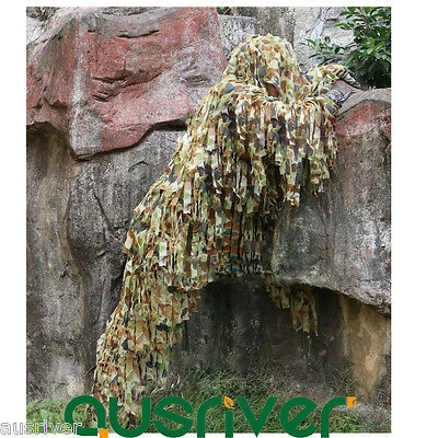 New Army Camouflage Jungle Yowie Ghillie Suit Airsoft Sniper Tactical Hunting