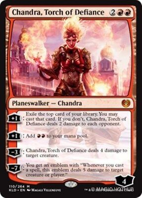CHANDRA, TORCH OF DEFIANCE Kaladesh MTG Red Planeswalker Mythic Rare