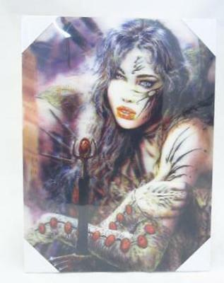 Warrior Woman & Staff 3D Canvas Art Wall Picture Poster Print Hang Decor A3