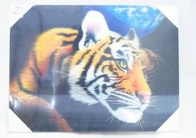 Tiger Animal Landscape 3D Canvas Art Wall Picture Poster Print Hang Decor A3