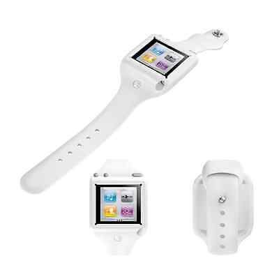 SwitchEasy Ticker - Protective fitness white watch strap for iPod Nano 6G
