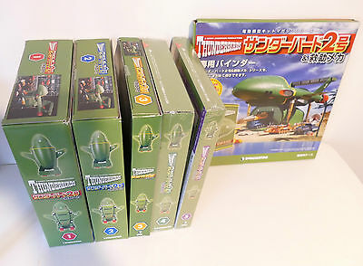 DeAgostini 1/144 Thunderbird 2 with POD Vehicles Vol 1 to 5 plus binder.