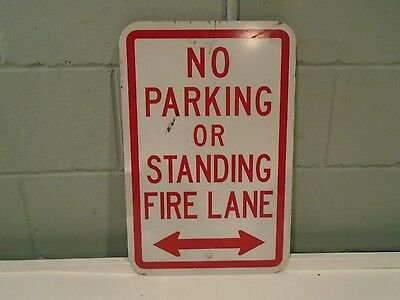 Fire Lane Sign No Parking or Standing Fire Zone 12x18 reflective