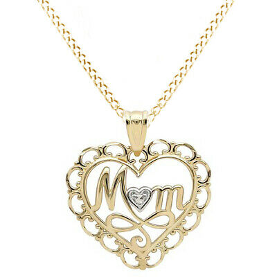 Fine Jewelry Necklace Mom Pendant 10k Yellow Gold