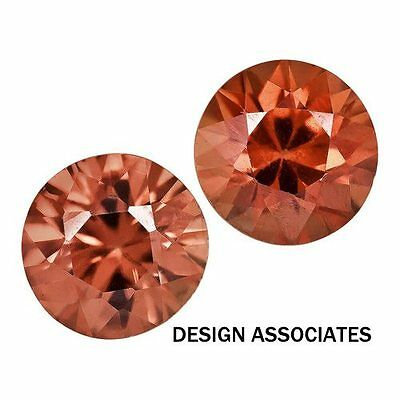 2 Mm Round Cut Red Zircon All Natural Aaa 3 Pc Set