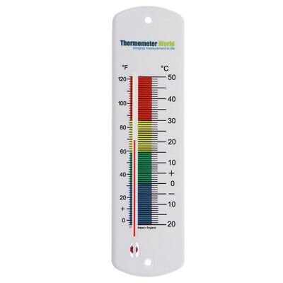 Large Wall Thermometer Indoor Outdoor Garden Greenhouse Home Office Room In-012