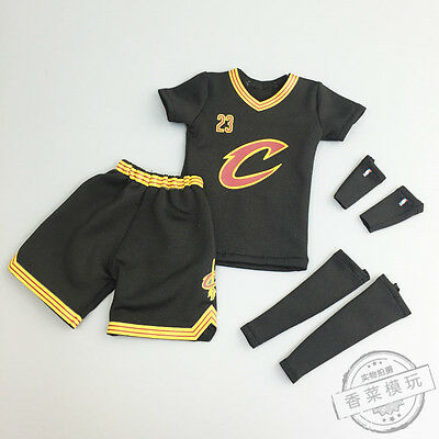 LEBRON JAMES cleveland cavaliers JERSEY KIT SET 1/6 scale doll Action Figure NBA