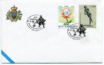 1998-03-19 San Marino New York postage stamp mega event ANNULLO SPECIALE Cover