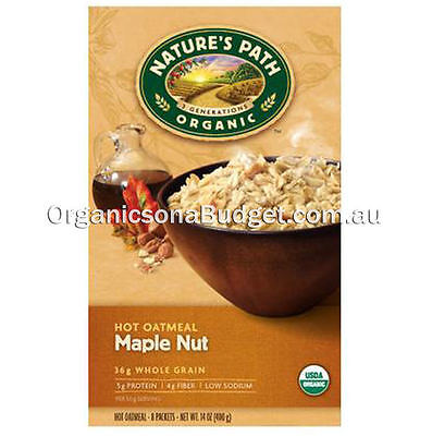 Nature`s Path Organic Hot Oatmeal Maple Nut 400g