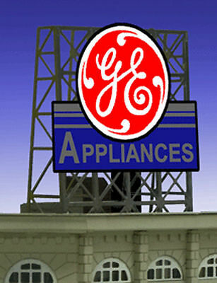 GE Appliances Animated Billboard Sign for N Z Scale Layouts Miller 338835