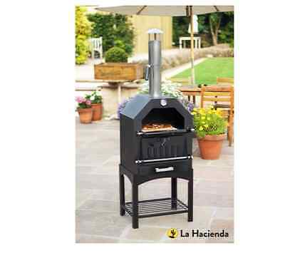NEW La Hacienda Steel Pizza Oven Outdoor Garden Pizza Cooker Grill BBQ Heater