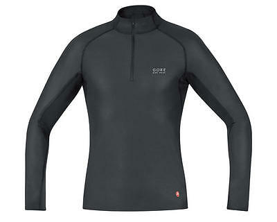 UWTNSP9900-P Gore Bike Wear Windstopper Base Layer Turtleneck (Black)