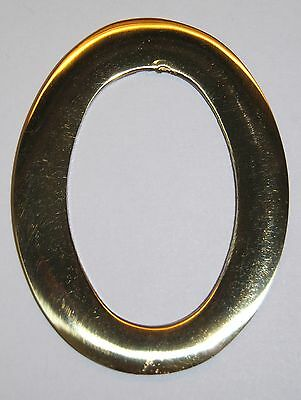 3 Inch Williamsburg Brass Mailbox Number #0 NEW FREE SHIPPING