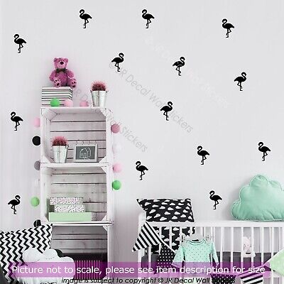Large 14cm Flamingo Wall Stickers Vinyl Decals Nursery Girls Bedroom Decor Art