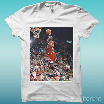 "Camiseta "" Michael Jordan Baloncesto "" El Blanco Happiness Is Han My Nuevo"