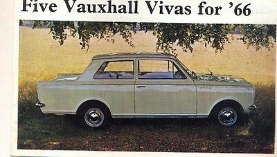 Vauxhall Viva HA range 1965 UK market sales brochure