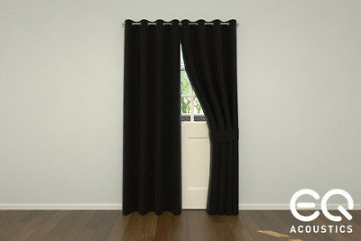 Acoustic Curtains by EQ Acoustics. Sound Absorbing Kilo Wool Serge.