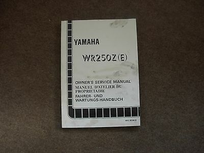 Yamaha WR250Z E Motorcycle Owner's Service Manual , early 1990's