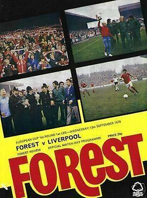1978/79 NOTT'M FOREST v LIVERPOOL ( EUROPEAN CUP)