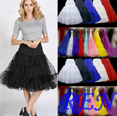 "13 Color Tulle Skirt 20"" knee length Crinoline Petticoat Tutu Dancewear Skirt"