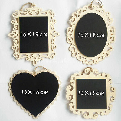 Vintage Hanging Wood Mini Blackboard Chalkboard Message Label Wedding Memo Sign