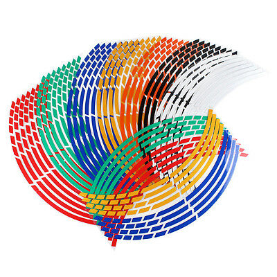 Multi-Color Auto Car Motorcycle Wheel Stickers Reflective Rim Stripe Tape Decal