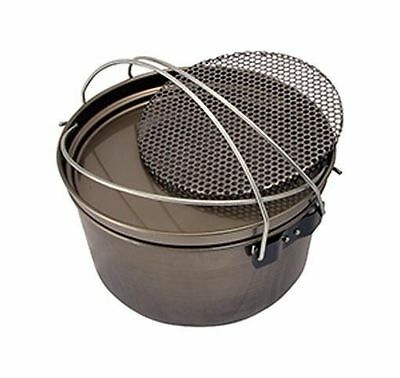 Camp Oven 12 inch Spun Carbon Steel 5 in 1 Frypan Hang Pan Boiling Pot Trivet