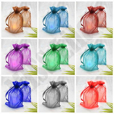 18 Colour/2 Size Luxury Quality Organza Wedding Jewellery Gift Pouch Favour Bags