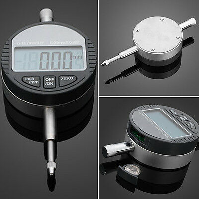 """Durable 0.01mm/0.0005'' 0-12.7mm/0.5"""" Digital Dial Electronic Indicator Gauge PO"""