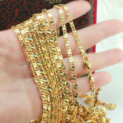 18k Gold Filled Strong Thick Snail Chain - 60cm x 3 mm