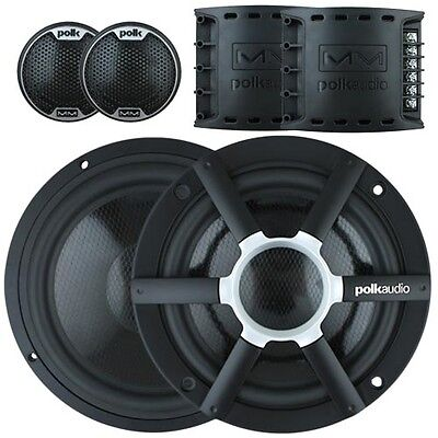 "Polk Audio MM6501 6.5"" 2 Way Component Car Speakers with GEN POLK WARR"