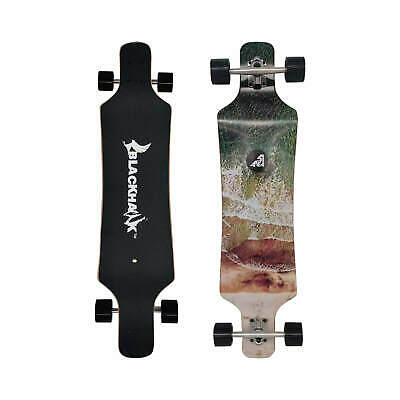 "BLACKHAWK 40x9.2"" 9Ply Maple Deck ABEC-7 Longboard Cruiser Carver Skateboard"