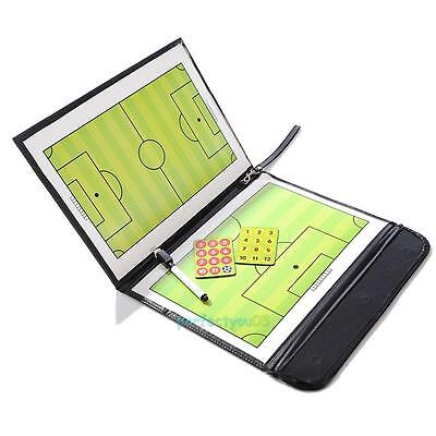 Magnetic Football Soccer Coaching Dry Erase Clipboard Tactical Board w/ Marker