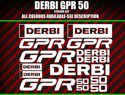Derbi GPR GP-R 50 Scooter Stickers /  Decal Set  * ALL COLOURS AVAILABLE *