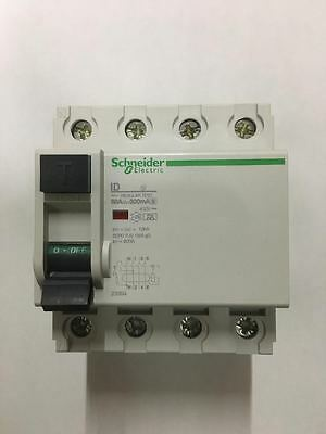 Schneider 4 pole 80 Amp 300mA-Asi 400V 23394 Residual Current Circuit Breaker