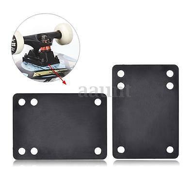 "Tera 2pcs 0.12""/3mm Soft Skateboard Riser Pads Black Longboard Shock Proof Parts"
