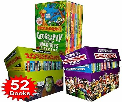 Horrible Collection 52 Books Box Set Histories Blood-Curdling, Science Bulging