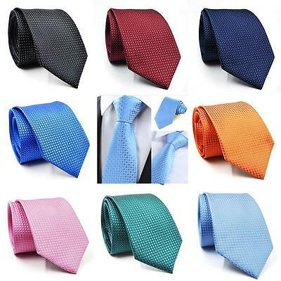 New Men's Business Silk Classic Jacquard Woven Plaid Wedding Tie Necktie Casual