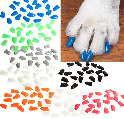 Soft Silicone Dog Pet Claws Paws Protective Sheath Claw Paw Cover 20 pcs