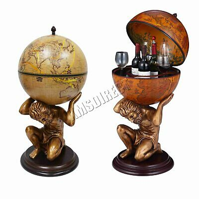 WestWood Vintage Globe Mini Bar Atlas Wine Drink Cabinet Antique Storage Bottle