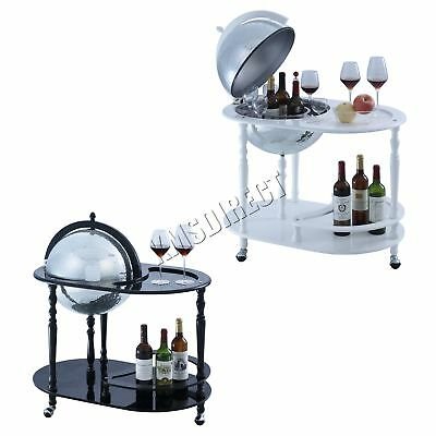 FoxHunter Globe Shaped Mini Bar Trolley With Table Drinks Cabinet Bottles 420MM