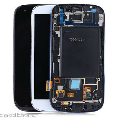 Replacement LCD Screen Frame Assembly Glass Digitizer for Samsung Galaxy S3i747