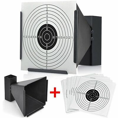 TARGET HOLDER CARD TARGETS Pellet Trap Catcher soft Air Gun Rifle 177 .22 BB