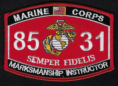 Mos 0931 Combat Marksmanship Trainer Patch Us Marnies Pistol Rifle Hat Pin Up