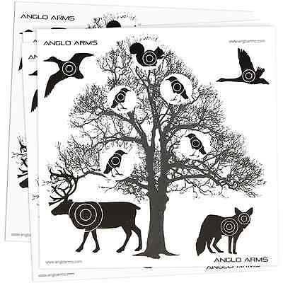 50 x 14cm CARD TREE TARGETS AIR RIFLE PISTOL SHOOTING 4 PELLET CATCHER 177 22 BB